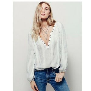 Free People against all odds striped long sleeve